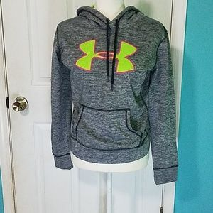 Under Armour grey and green hoodie